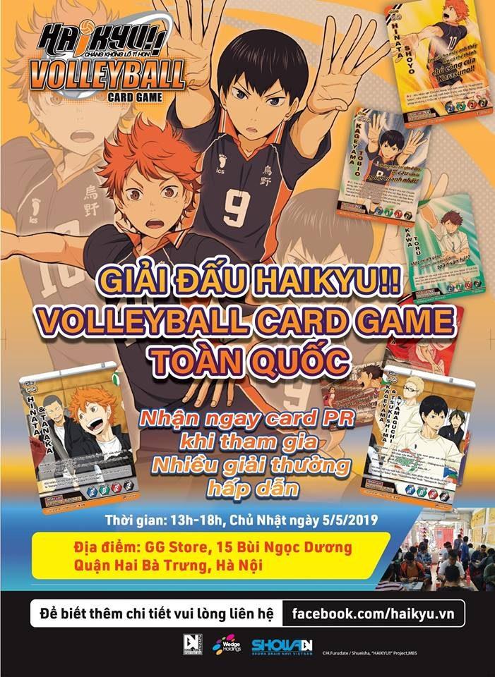 Giải đấu Haikyu!! Volleyball Card Game toàn quốc tại Hà Nội