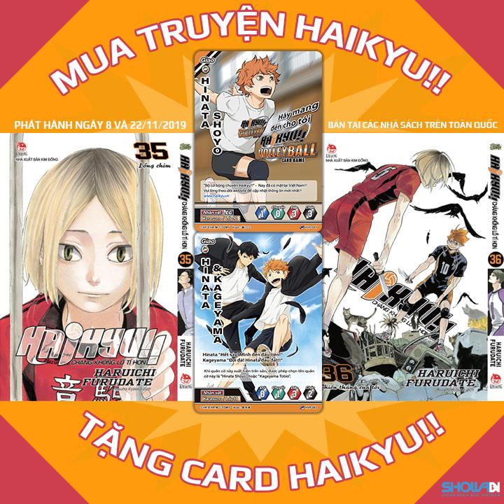 tặng card pr khi mua truyện Haikyu
