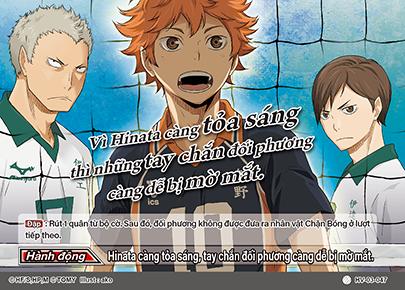 Vì Hinata càng tỏa sáng thì những tay chắn đối phương càng dễ bị mờ mắt.